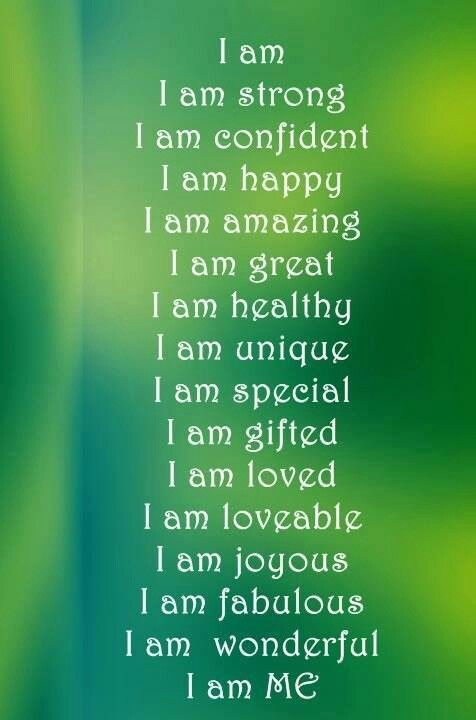 I am ................ daily Affirmations. Write it down, carry it with you and repeat at times of crisis or increased stress. It just gives the mind time to calm.