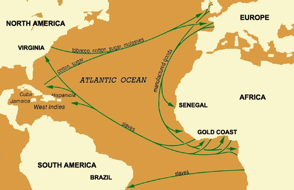 the middle passage | MapIllustrating the Middle Passage Routes and Cargoes
