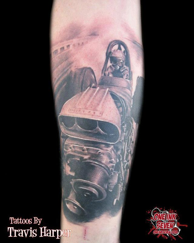 tattoo tattoos dragster racecar racing nascar auto car cars imperialbodyart. Black Bedroom Furniture Sets. Home Design Ideas