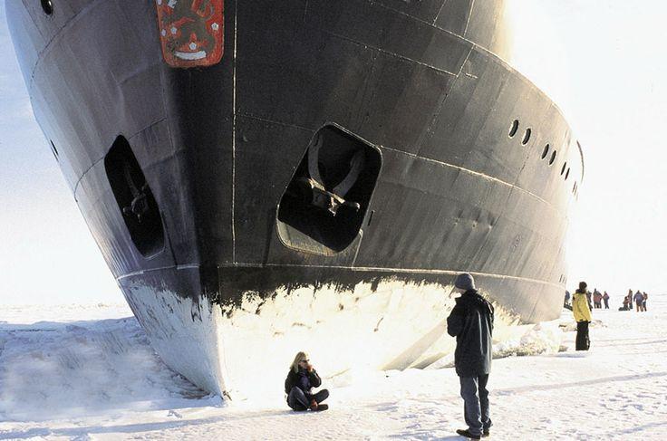 Maak een excursie aan boord van een echte ijsbreker #finland