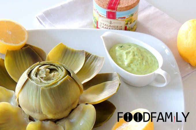 Artichoke with Basil Mayonnaise - www.FoodFamily.net