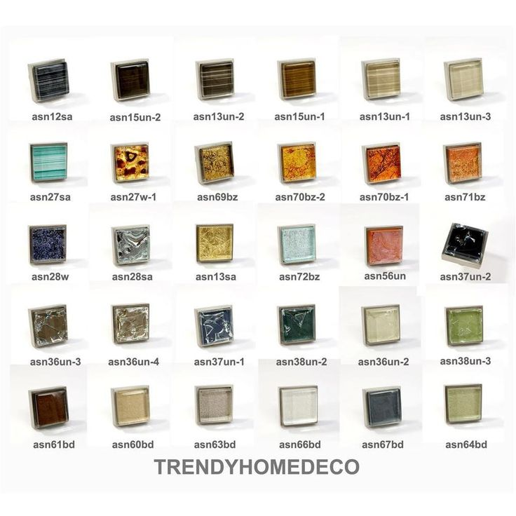 crystal glass brushed nickel square knob modern cabinet kitchen closet handle knobs and pullsmodern