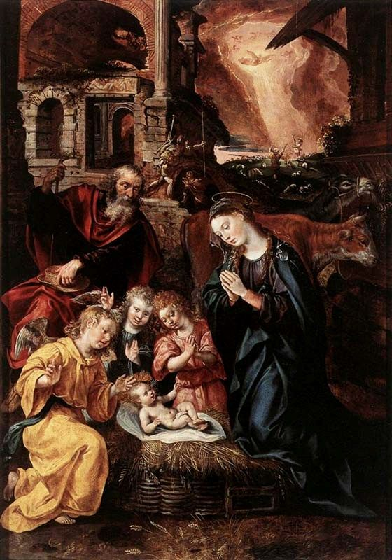Paintings of the Birth of Christ, Marten de Vos, Birth of Christ