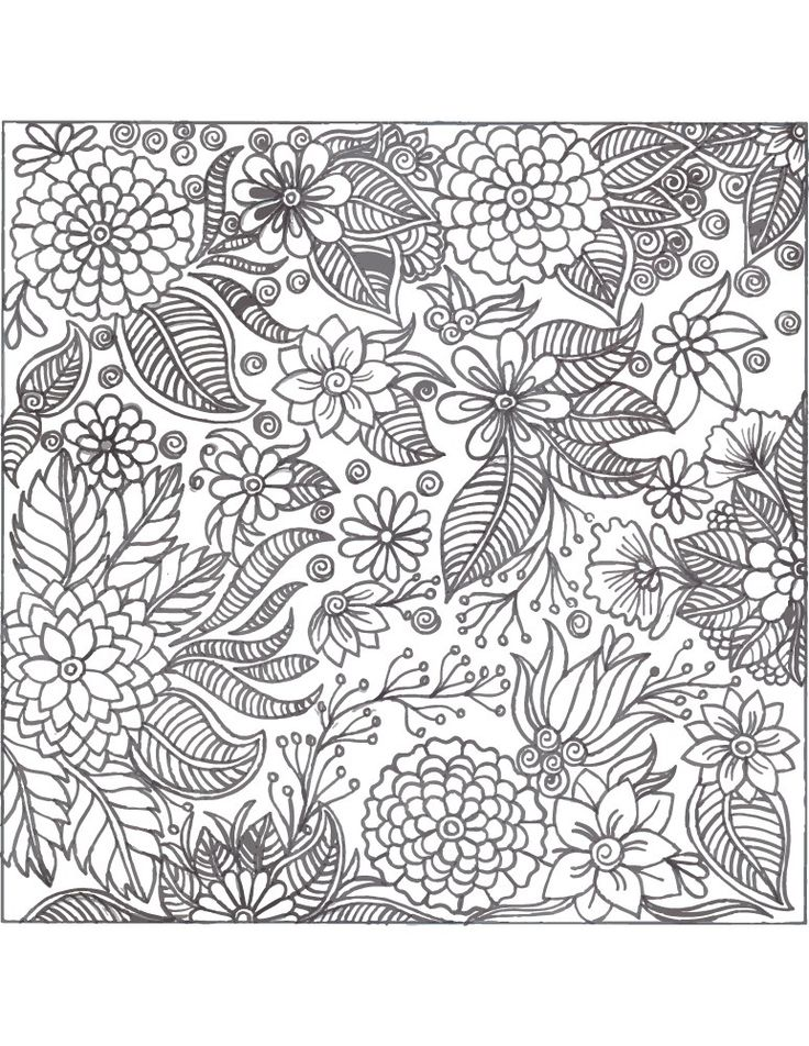 36 best coloriage fleurs et plantes flowers and plant - Coloriage therapie ...