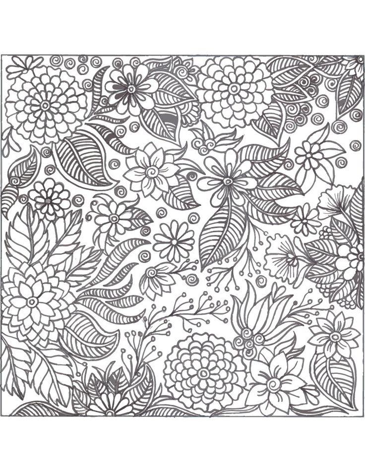 36 best coloriage fleurs et plantes flowers and plant - Coloriage fleurs et plantes a imprimer ...
