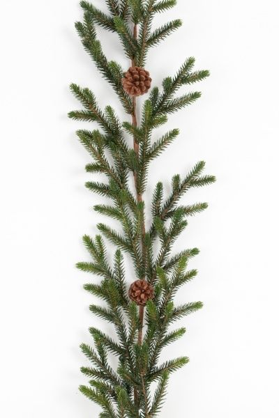 Garland with pinecones
