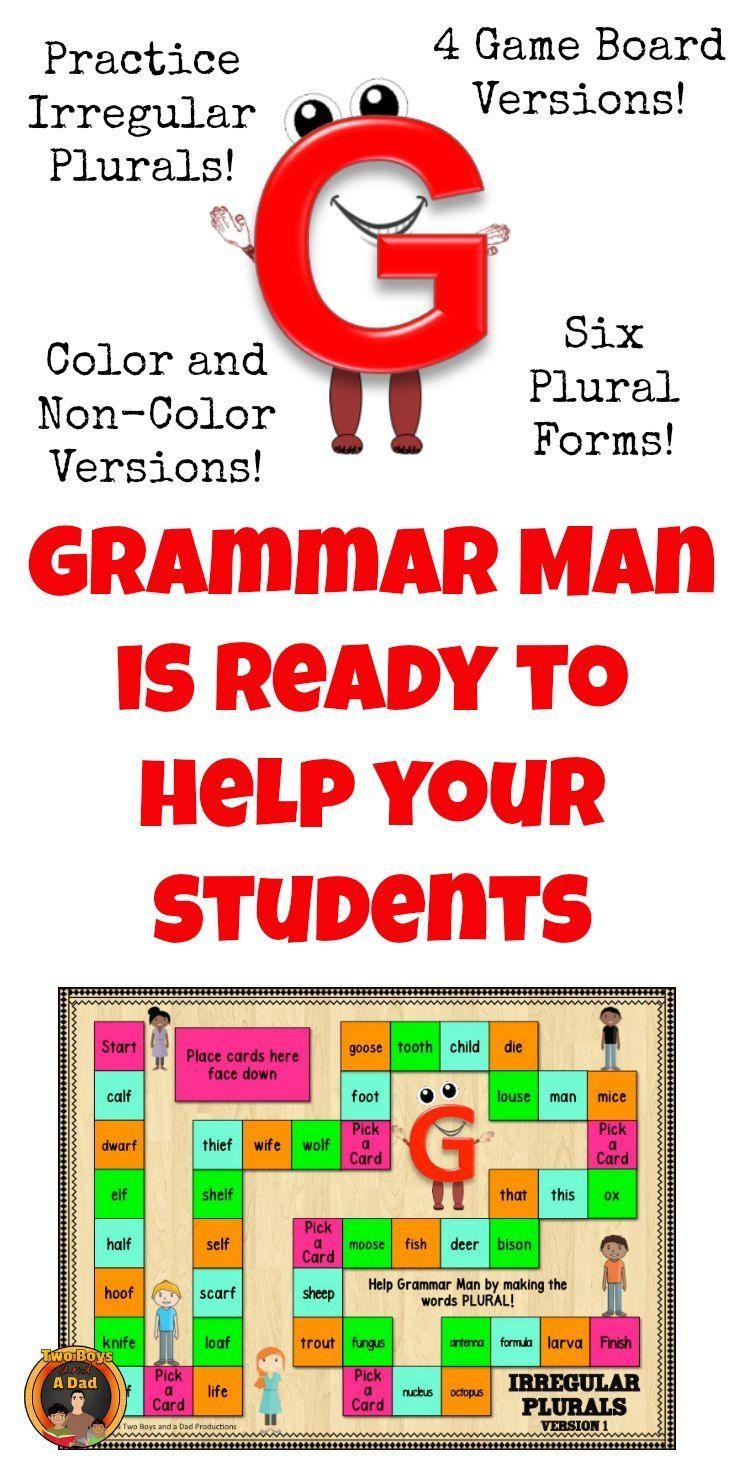 Game board colors - Irregular Plural Nouns Game