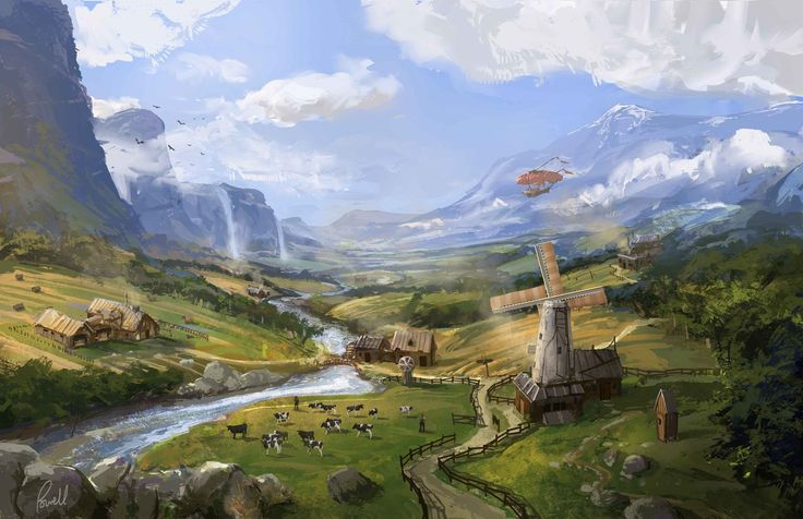Fantasy Countryside by JonathanP45.deviantart.com on @DeviantArt