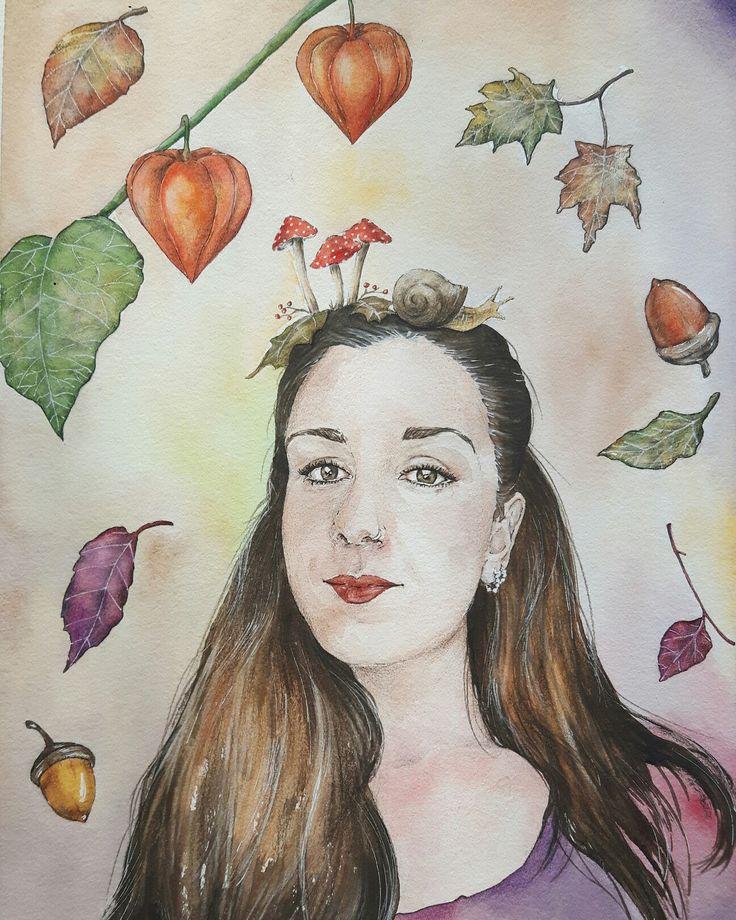 Autumn in watercolor