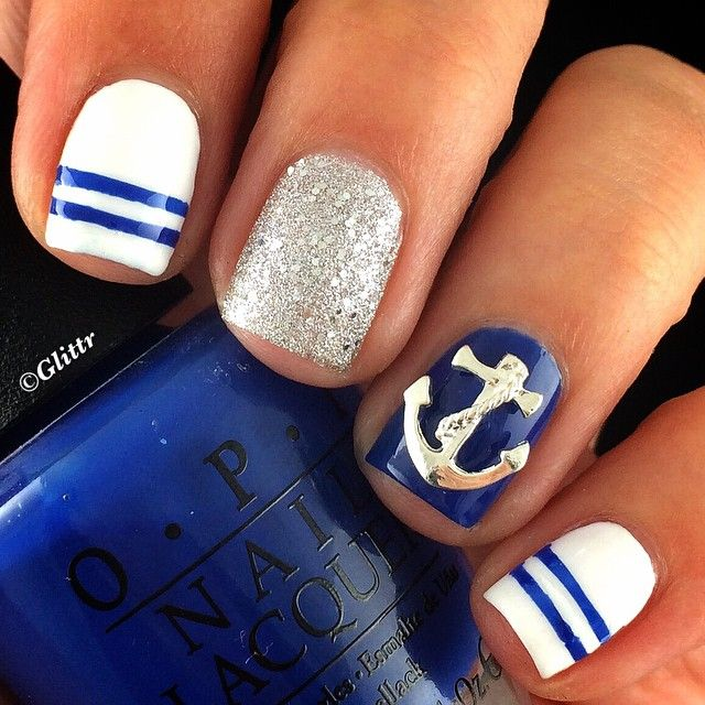 Nail Art Tutorial Nautical Nail Art Using Cuccio: 45 Best Images About Nail Art: Nautical Manicures On
