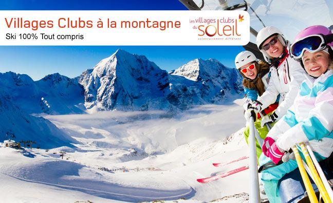 Séjour Ski pas cher Look Voyages, réservez votre location au ski tout compris à la montagne avec Look Voyages et les Villages Clubs du Soleil. Vos vacances d'hiver tout compris à petits prix à partir de 450.00 €