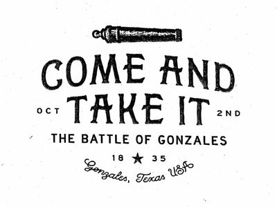 1835 The Battle of Gonzales -- Texas ~~~~~~~~~~~~~~~ http://youtu.be/aJZz4p8r-NI