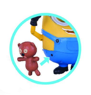 Говорящий миньон Боб с медвежонком. Размер игрушки 18 см.