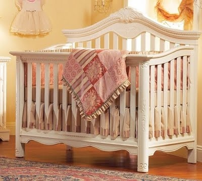 antique white crib baby perez 87956