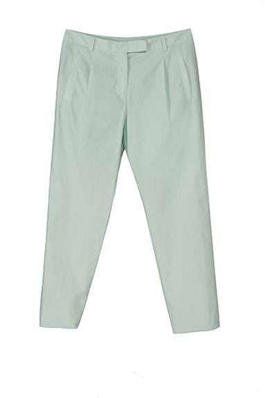 MYRKA cropped pleated pant in printed stretch cotton (light and trendy)
