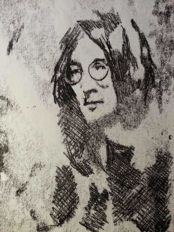 1 minute drawing john lennon