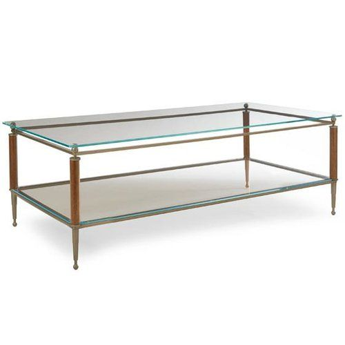 Caracole Modern Craftsman Coffee Table with Magazine Rack