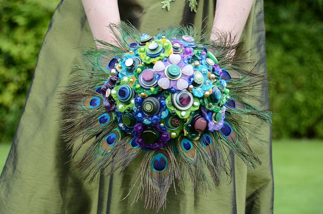 Peacock Bouquet by jamball, via Flickr