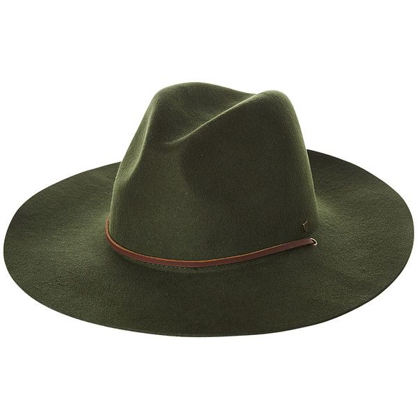 Brixton Mayfield Ii Hat ($80) ❤ liked on Polyvore featuring men's fashion, men's accessories, men's hats, accessories, green, mens hats, wide brimmed hats, mens wide brim hats and mens felt hats