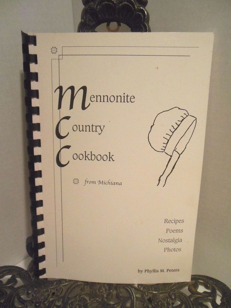SIGNED Mennonite Country Cookbook Phyllis M Peters Three Rivers Michigan Author