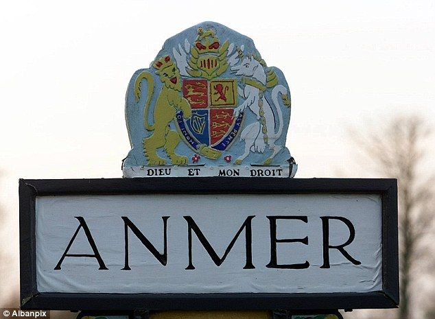 The village of Anmer lies between King's Lynn and Hunstanton, on the edge of the Sandringham estate.