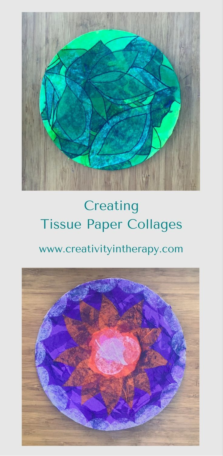 Creating Tissue Paper Collages in Art Therapy - Creativity in Therapy, Carolyn Mehlomakulu
