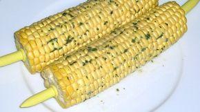 Gegrillte Maiskolben aus dem Ofen