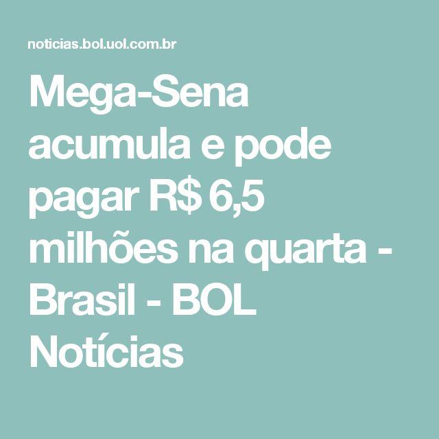 Mega-Sena acumula e pode pagar R$ 6,5 milhões na quarta - Brasil - BOL Notícias