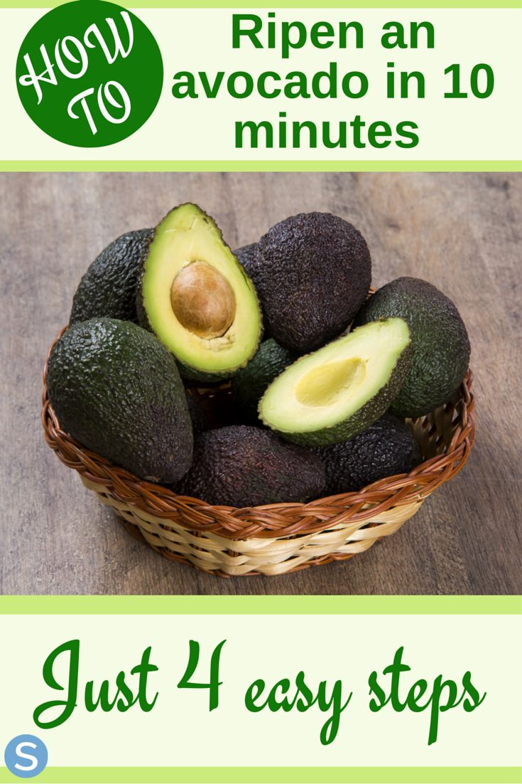 Ripening an avocado is easier than you thought! Use these 4 simple steps to ripen your avocados in just 10 minutes! http://www.simplemost.com/ripen-avocado-just-10-minutes/?utm_campaign=social-account&utm_source=pinterest.com&utm_medium=organic&utm_content=pin-description