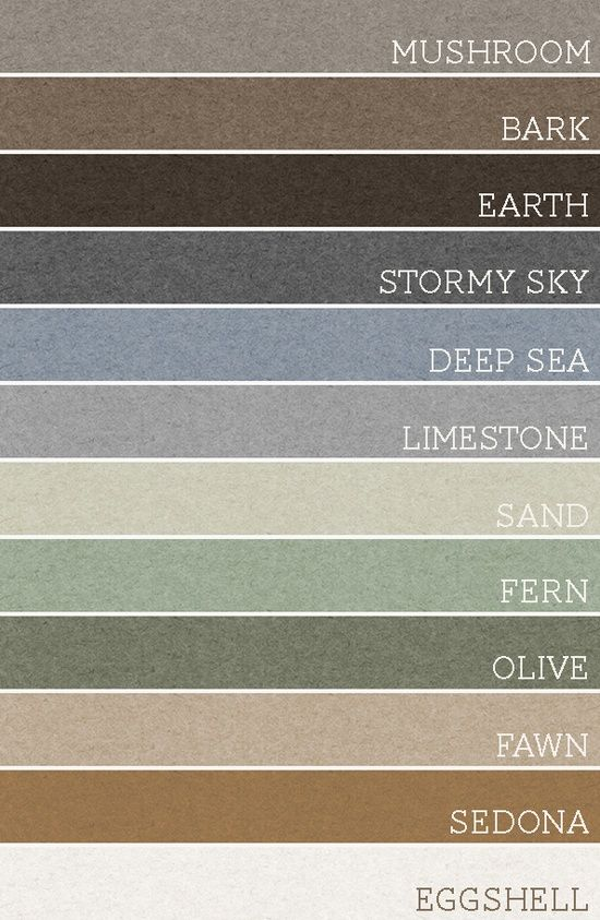 Take any set of 3 of these colors and each room would be amazing. A palette for the whole house! @ Home Improvement Ideas
