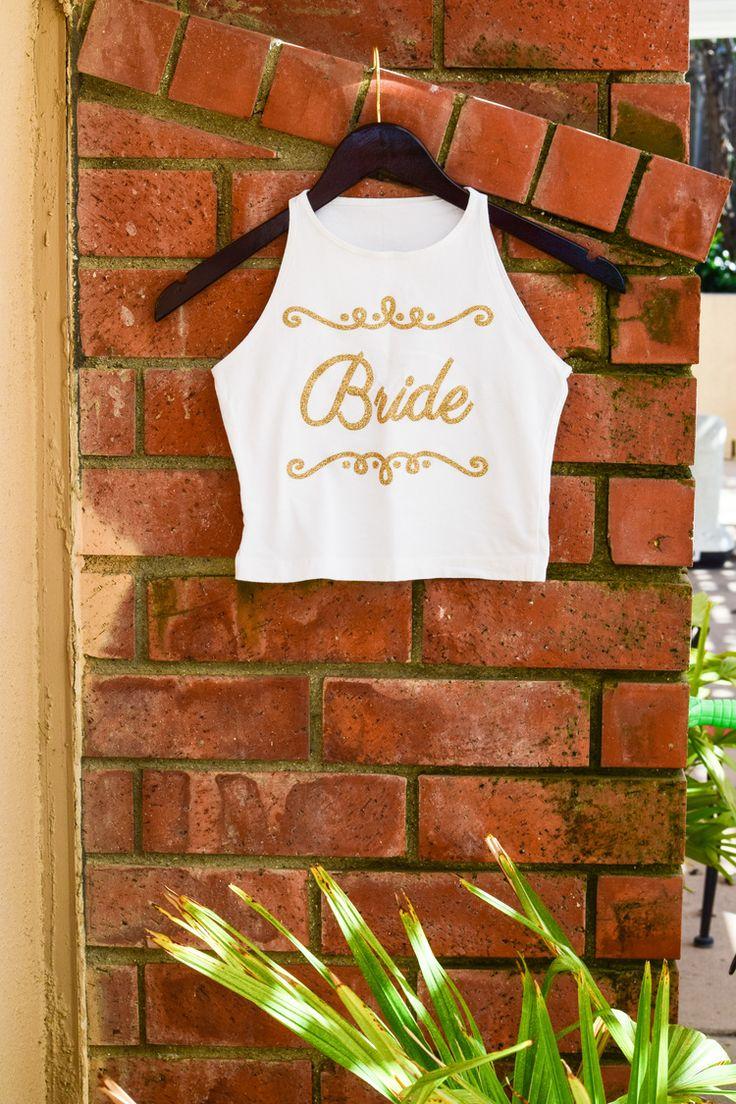 Bride Bachelorette Party Crop Top by Oooh La La Fitness
