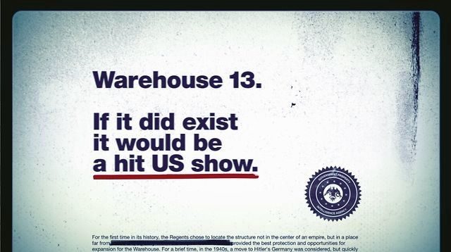 This was a 15 second teaser created for the Season 3 launch of Warehouse 13 on Syfy. Using the creative tagline of 'The Hit US Show That Does Not Exist' we created a look and feel suggesting a slideshow of top secret government files which had 'covered up' the existence of Warehouse 13.