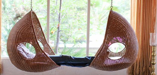 Egg Shaped Wicker Hanging Chair
