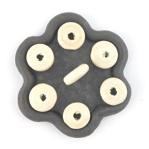 x50 Perles rondelle soucoupe en bois naturel 11mm  (34C)