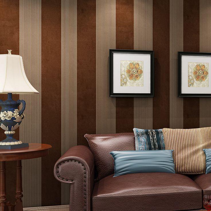 Широкие горизонтальные вертикальные полосы обоев имитация нетканые обои для гостиной papel parede обоев для стен