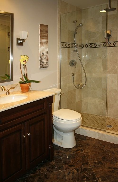 47 best images about bath remodel ideas on pinterest for Small master bathroom remodel ideas