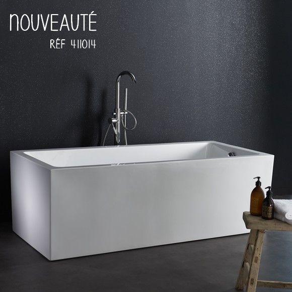 Une baignoire droite pour une décoration plus classique. #planetebain #baignoires #salledebain