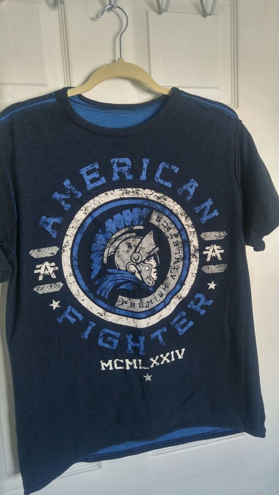differently 0f0cc e16f5 AMERICAN FIGHTER Mens REVERSIBLE T-Shirt Size Medium M Blue  fashion   clothing  shoes  accessories  mensclothing  shirts (ebay link)