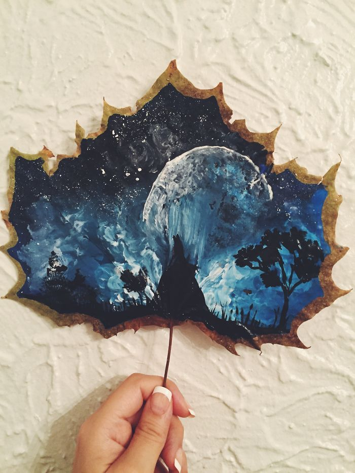I Paint On Fallen Autumn Leaves