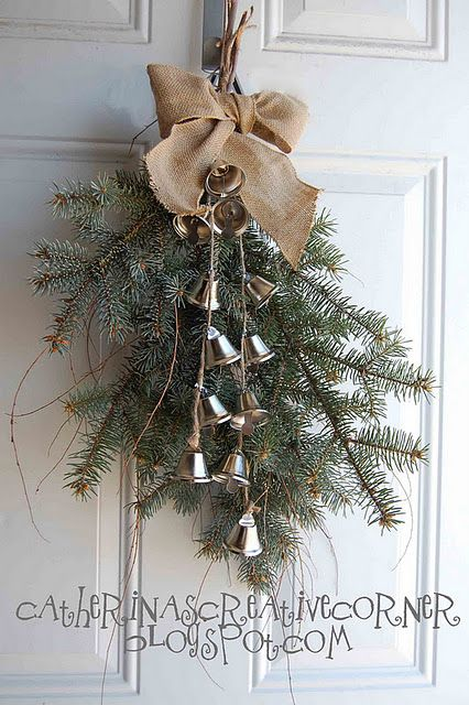 PB Inspired Christmas Swag. i do this every year with different christmas decoration, I love it that way.