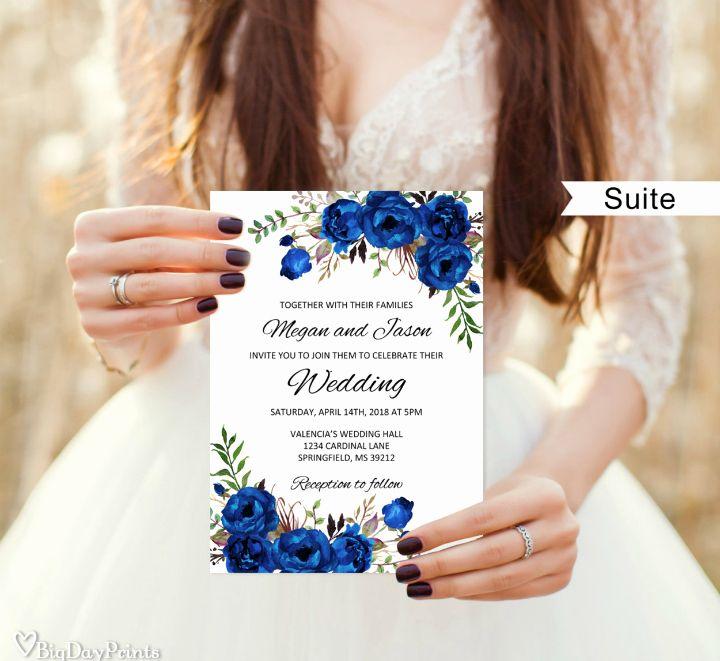 Royal Wedding Invitation Template New 35 Floral Wedding Templates Editable Psd In 2020 Royal Blue Wedding Invitations Royal Wedding Invitation Royal Blue Wedding Theme
