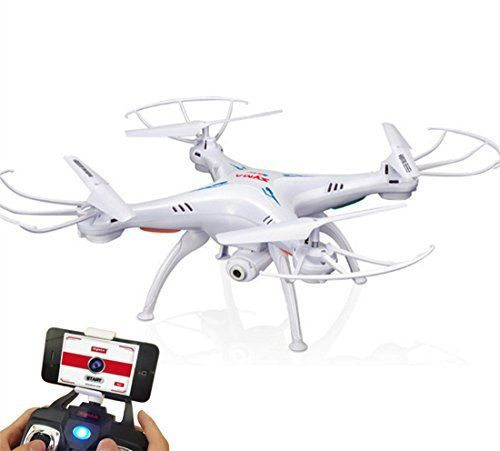Syma X5SW Wifi RC Drone Quadricopter 24g 50m with 20mp Hd Camera and Electronic Compass Axes 4 Realtime RC Helicopter White UAV for Android Phone and Apple IOS Systemwhite *** Want additional info? Click on the image.