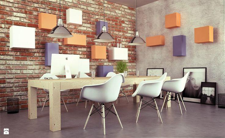 Vintage Biuro z Meblami TETREES - zdjęcie od TETREES - Wnętrza biurowe - Styl Skandynawski - TETREES