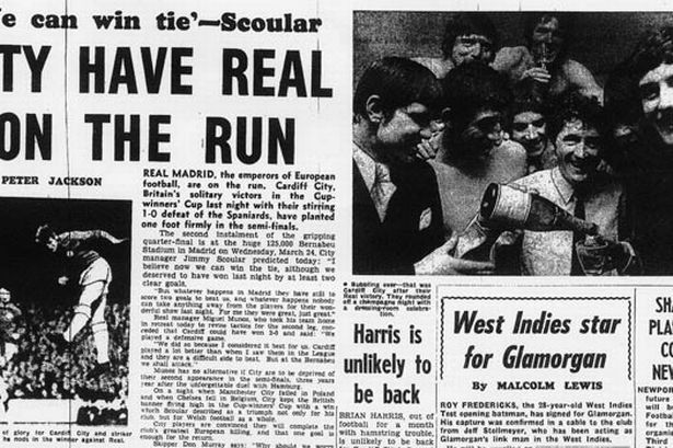 March 10 1971: Cardiff City 1-0 Real Madrid - SPECIAL - Wales Online