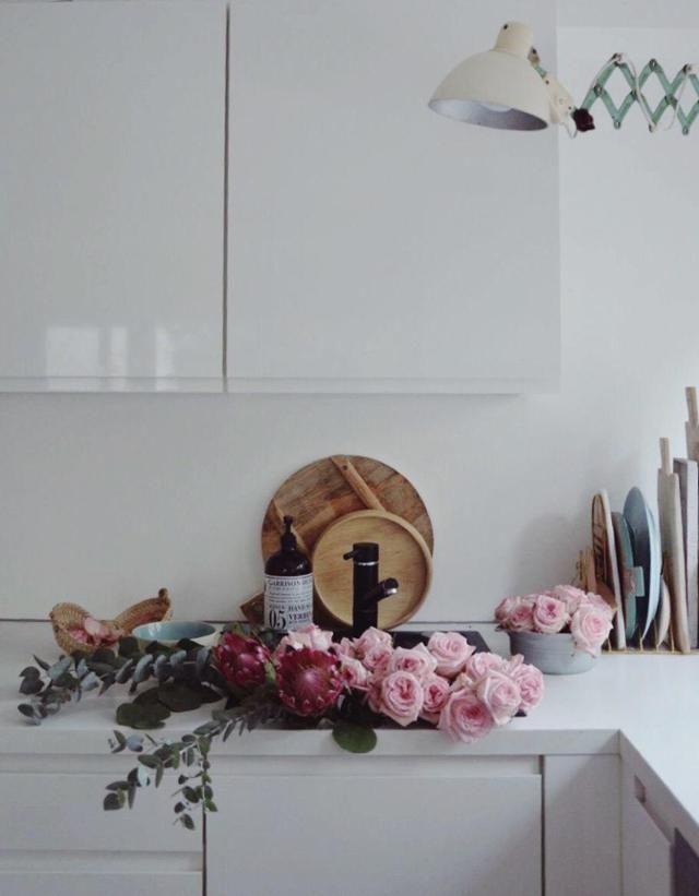 Küchenliebe gegen graue tage küchenliebe küche blumen