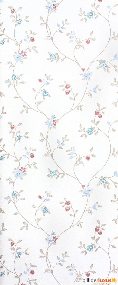 Wallpaper Rasch Blooming Garden satin wallpaper 001176 flowers cream brown Wallpapers Rasch Textil Blooming Garden