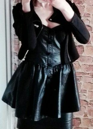 #skórkowa #sukienka #czarna #goth #metal