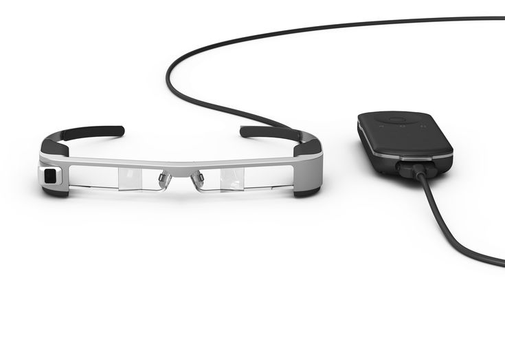 Epson unveils its third-generation Moverio AR glasses at MWC. The new smart specs boast completely transparent lenses impregnated with OLED displays, a quad-core Intel Atom X5 processor and the Android 5.1 operating system. Plus, they weigh 20 percent less than their BT-200 predecessors, making them the world's lightest AR glasses. #MWC #MWC2016