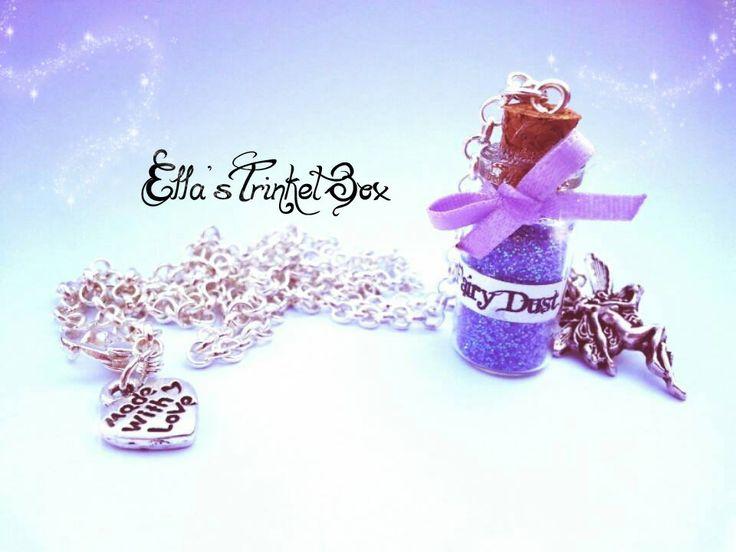 Cute Fairy Dust Necklace from Ella's Trinket Box! ♡  www.facebook.com/EllasTrinketBox