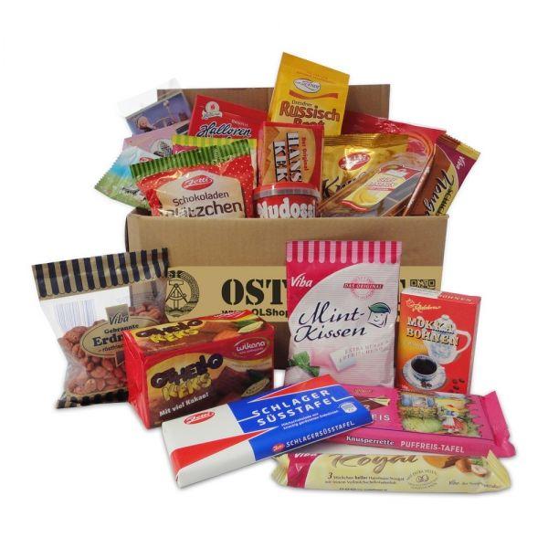 Geschenkset Ostprodukte Ostpaket Süße Verführung 20 typische DDR-Süßigkeiten